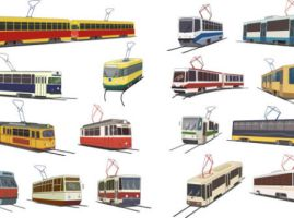 Vector-tram-material by vectorbackgrounds