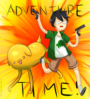 Adventure Time with Jake and Jake by exjuice