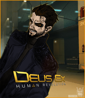 Adam Jensen DE:HR by Psycho-o-Aciid