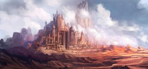 desert castle by xpe