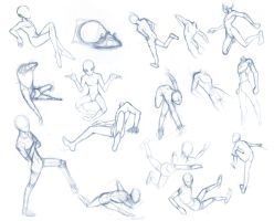 Random poses 30 (massive sheet) by BBstudies