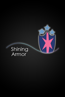 Shining Armor Glow Line iPod/iPhone Wallpaper by AlphaMuppet