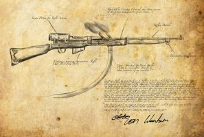 Steampunk Rifle Concept by lordcaine1987