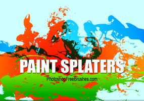 15 Grunge Brushes-Big Splatter by fiftyfivepixels