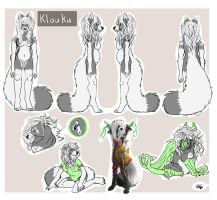 klouku ref sheet by TheArtyMadCow