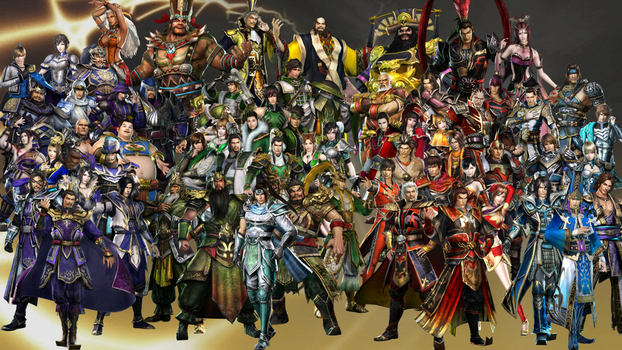 Dynasty Warriors 7 Roster by The4thSnake