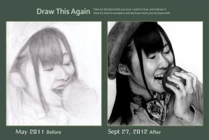 Draw this again - Apple girl - Sasshi :3 by tin-aw