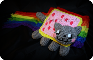 nyan cat scarf by AteliersGumi