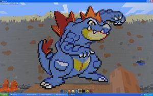 Feraligatr On Minecraft by Miccopicco
