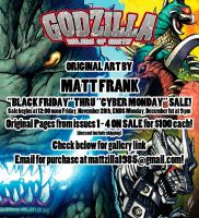 Godzilla Rulers of Earth ART SALE! by KaijuSamurai