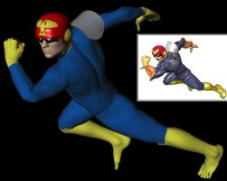 Captain Falcon with Helmet by ChozoBoy