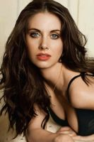 Alison Brie iPhone 4 Wallpaper by y2snake