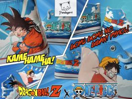Dragon Ball x One Piece by Pandagorri
