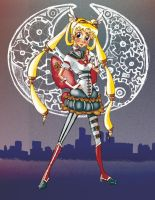 steampunk Sailormoon manga by teddybearbones