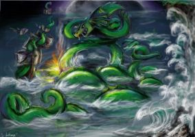 Sea monster by ApocalypticMongoloid