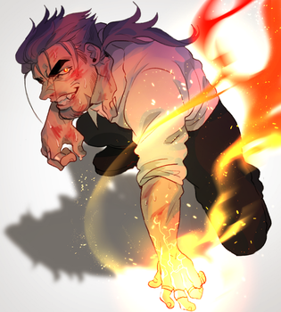 Fire And Anger by Promsien