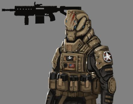 Future Soldier Concept art 2 by FonteArt