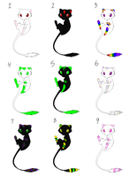 Mew Adoptables :OPEN: by h-moss