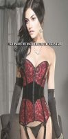 Pheobe Tonkin - Red and Black Lingerie Morph by yotoots