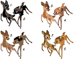 Twin Fawn Adopts ~ 10 Points Each ~ *OPEN* by Adopting-Angels