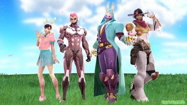 MMDxOverwatch: Easter/Spring Models! by RandomDraggon