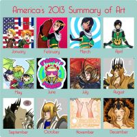 2013 Art Summary by TheonenamedA