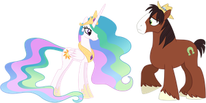 Trouble Shoes and Celestia by missgoldendragon