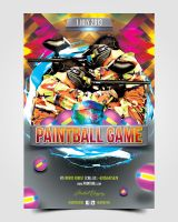 Paintball Flyer by pascreative