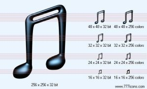 Notes v2 Icon by music-icon-set