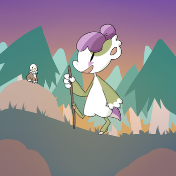 PROMPT: Hiking by Suuchann
