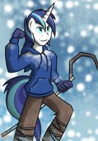 Shining Armor as Jack Frost by Xain-Russell