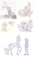 CM - GF sketches (misc) by Mistrel-Fox