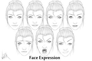 Face Expression by ViiPerArt