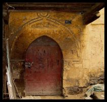 Red Door in Cairo by doriano