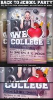 We Love College Party Flyer Template by Hotpindesigns