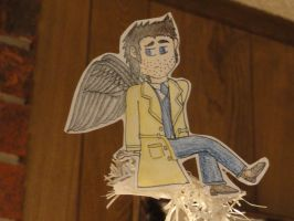 SPN: Cas is a Christmas Angel by VicodinFlavoredMints