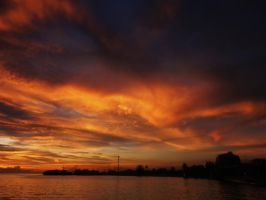 Sunset at the Port by unli25