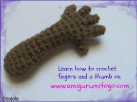 Crochet fingers by sojala
