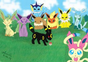 Eeveelution Family Photo by apanda54