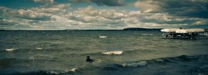 Mendota and dog by Richteralan