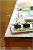 Making and Eating Sushi at Hom by lilamel21