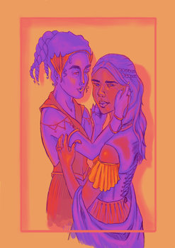 Elia and Lyanna by morgainej