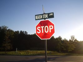 Stop Sign by takingbackanna