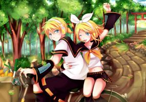 Rin and Len: Lets go by Squ-chan