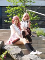 Eclaire and Serah Farron by AsheliaHime