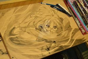 mirai kuriyama table drawing by kanoemushi