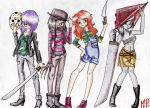Girls of Horror... by MikuPapercraft