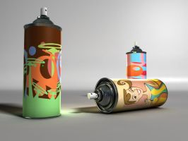 Spray Cans by Jonnnas