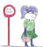 Fifi at the bus stop by dth1971