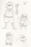 A slew of Sans by Piranhartist